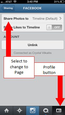 Connecting Instagram to business Facebook page 1