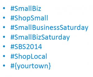 shop small hashtags