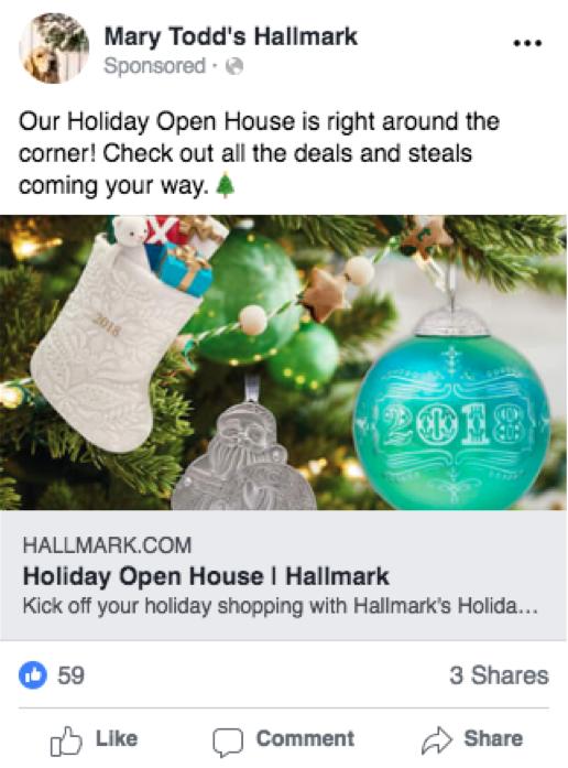 Most Recent Ad - Mary Todd's Hallmark