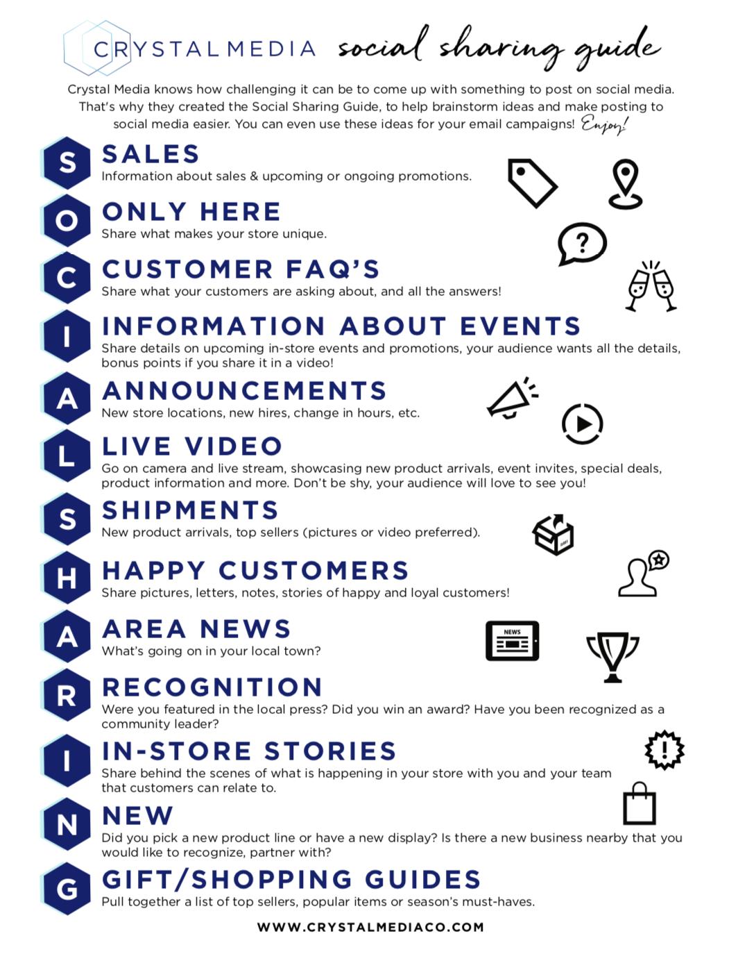 social sharing guide social media ideas for retailers