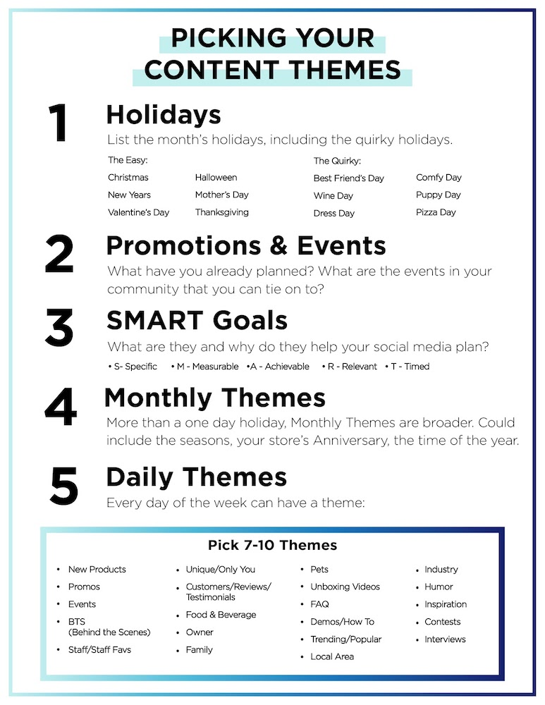 Picking Your Content Themes - How to come up with engaging facebook ideas