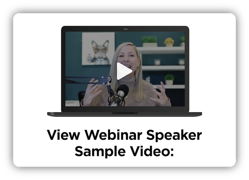 Webinar Speaker Button